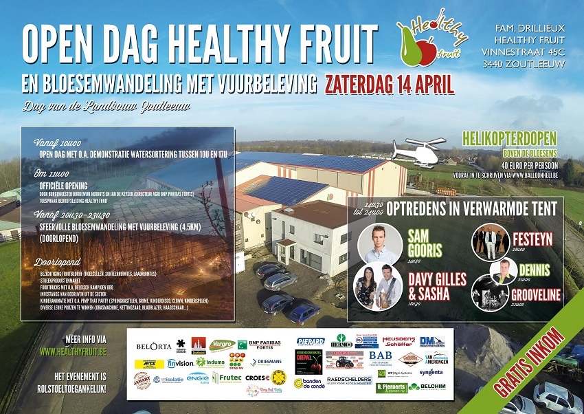 Affiche Open dag Healthy Fruit in Zoutleeuw bij Familie Drillieux